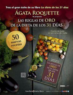 Pieza publicitaria para prensa del libro Las reglas de oro de la dieta de los 31 días que realicé para La Esfera de los Libros
