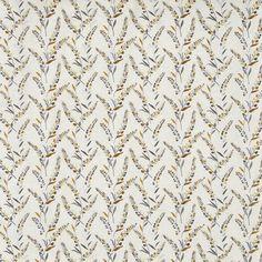 Wisely Saffron  69% Poly /16% Visc. /9% Cott. /6% Lin  143cm (useable 139cm)  V - 23.3cm, H - 34.5cm  Curtaining & Accessories  Embroidered Stuart Graham, Prestigious Textiles, Floral Theme, Curtain Fabric, Damask, Digital Prints, Neutral, Colours, Embroidery