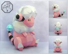 Paperpokés - Pokémon Papercrafts: FLAAFFY (Chinese New Year 2015) I actually have one of these in my pokemon heat gold game :D I don't want HIM to evolve because a pink guy. Pink is very manly eue Pokemon, Papercraft Flaaffy for kids, Papercraft Flaaffy Papercraft, awesome, cute, cool, nintendo, Flaaffy