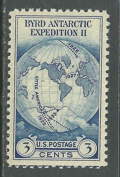 US 1933 Scott # 733 - 3¢ Byrd Expedition stamps MNH Single