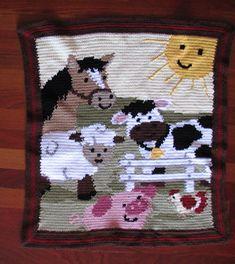 Ravelry: Farm Yard Friends Blanket pattern by Mary Maxim
