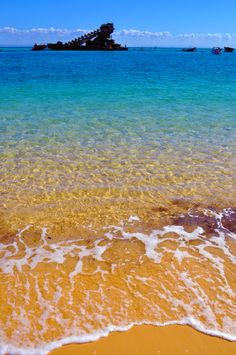 Look at that golden sand! Moreton Island is the newest port of call to be added to PO itineraries.