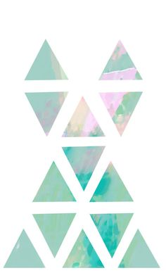 triangles Triangles, Color Patterns, Futuristic, Minimalist, Tumblr, Colorful, Illustrations, Watercolor, Drawings