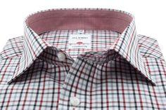 Een prachtig geruit overhemd met blauwe en rode accenten. http://www.hemdenonline.nl/item-overhemden-olymp-olymp-6129-64-33-3356p39_53.html# 6129-64-33K