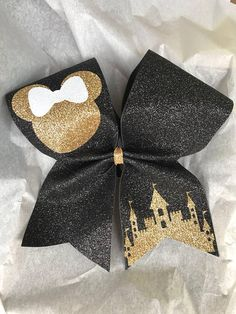 $18 Disney Inspired Cheer Bow - Summit Hair Bow - Cheerleading Bow - Minnie Mouse - Disneyworld - Disneyland - Custom Cheer bows - Cheer Bow #cheerleading #ad
