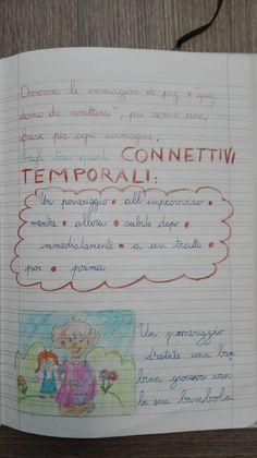 Laboratorio di scrittura: i connettivi-Classe Terza- Italiano-Maggio - Maestra Anita Vocabulary, Language, Bullet Journal, Teaching, Education, School, 3, Geography, Alphabet