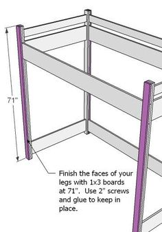 diy loft bed plans for teens | How to Build a Loft Bed