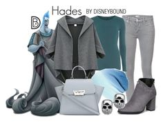 """Hades"" by leslieakay ❤ liked on Polyvore featuring Mother, Dorothy Perkins, ZAC Zac Posen, disney, disneybound and disneycharacter"