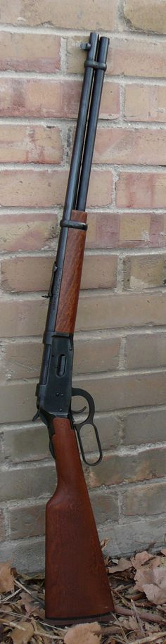 Mossberg 30-30.  Lever action rifle.  Great deer rifle and a western classic.  Perfect for cowboying it up in Montana.