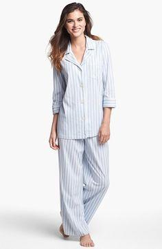 cozy holiday choices - menswear style striped pajamas #gift #ideas