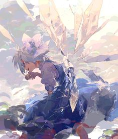Uploaded by Liza Cator. Find images and videos about touhou project, cirno and anime girl art on We Heart It - the app to get lost in what you love. Anime Art Girl, Manga Art, Manga Anime, Anime Guys, Fantasy Kunst, Fantasy Art, Character Illustration, Illustration Art, Reference Manga
