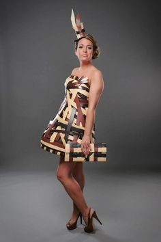 My husband made this! Wood Dress! www.mankatocabinetcraft.com