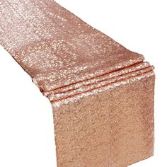 Sequin Duchess Table Runner - Rose Gold