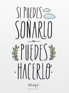 Diseño gráfico para gente no aburrida Motivational Phrases, Inspirational Quotes, Motivational Pictures, Words Quotes, Sayings, Life Quotes, Quotes En Espanol, Mr Wonderful, Study Motivation