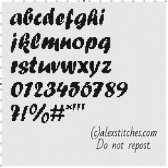 Cross stitch alphabet forte font uppercase letters free download ...