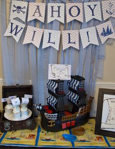 Awesome pirate party!  See more party ideas at CatchMyParty.com!  #partyideas #pirate
