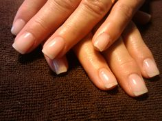 Short natural nails - how you can do it at home. Pictures designs: Short natural nails for you Natural Looking Acrylic Nails, Short Natural Nails, Natural Gel Nails, Short Nails, Natural Nail Designs, Short Nail Designs, Gel Nail Designs, Nails Design, Cnd Shellac