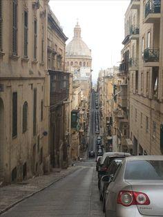 Valletta niemal na przestarzał Malta, Street View, Malt Beer