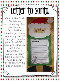 Letter to Santa from Step into 2nd Grade with Mrs. Lemons