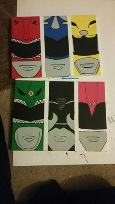 Power Rangers wall art I made for my son