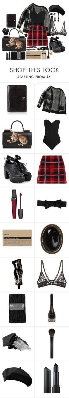 """💓"" by branja ❤ liked on Polyvore featuring Chanel, Dolce&Gabbana, Heidi Klein, Miu Miu, Lancôme, Donna Karan, Aesop, Mimi Holliday by Damaris, Gap and River Island"