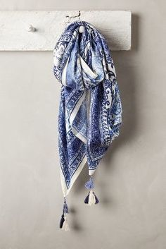 Anthropologie Delphic Tile Scarf #anthrofave