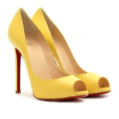 Celebrities who wear, use, or own Christian Louboutin Flo 120 Patent-leather Peep-toe Pumps. Also discover the movies, TV shows, and events associated with Christian Louboutin Flo 120 Patent-leather Peep-toe Pumps. Stiletto Pumps, High Heels Stilettos, Peep Toe Pumps, Louboutin Shoes Women, Louboutin Pumps, Christian Louboutin Outlet, Yellow Shoes, Patent Leather Pumps, Leather Shoes