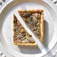 Seeded Brown Sugar Tart is similar to pecan pie but lighter on sweetness.  Nut-free, corn syrup free, and completely delicious.