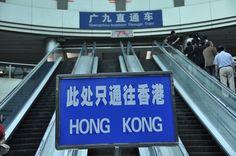 Guangzhou East Station: Zugang zum Zug nach Hongkong