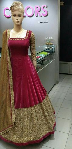Buy Maroon embroidered cotton silk salwar with dupatta Online Anarkali Dress, Pakistani Dresses, Indian Dresses, Lehenga Choli, Indian Outfits, Sharara, Shalwar Kameez, Anarkali Suits, Churidar