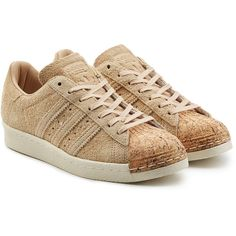 Adidas Originals Superstar Suede and Cork Sneakers (2.096.425 IDR) ❤ liked on Polyvore featuring shoes, sneakers, beige, suede sneakers, multicolor sneakers, suede shoes, multi color shoes and suede leather shoes