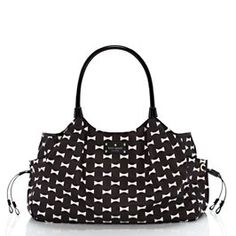 Joe would carry this. Kate Spade bow shoppe stevie baby bag