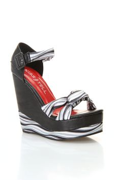 Quinn-06 Wedge Sandal In Black  $19.99