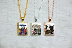 Vintage Book Charm Locket Library To The Lighthouse Jewellery Literary Gift Mrs Dalloway Necklace Virginia Woolf Book Locket Charms