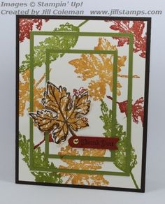 Gently Falling Triple Time Stamping by jillastamps - Cards and Paper Crafts at Splitcoaststampers