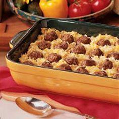 Meatball Hash Brown Bake