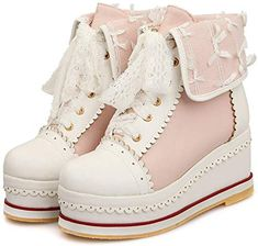 Looking for HILIB Women's Cute Lolita Boots Cosplay Brogue Wedge Boots ? Check out our picks for the HILIB Women's Cute Lolita Boots Cosplay Brogue Wedge Boots from the popular stores - all in one. Harajuku Mode, Harajuku Fashion, Lolita Fashion, Emo Fashion, Rock Fashion, Kawaii Fashion, Gothic Fashion, Kawaii Shoes, Kawaii Clothes