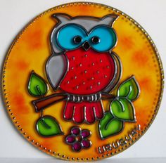 Cd Crafts, Resin Crafts, Diy And Crafts, Arts And Crafts, Recycled Cds, Recycled Crafts, Faux Stained Glass, Stained Glass Designs, Indian Art Paintings