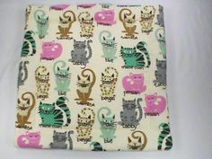 Plush Catnip Mat with cats, cat breeds and cat fleece on ba by CherylAnnsPets on…