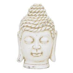 Benzara Off-white (Beige) Terracotta Rose Buddha Head (Off White) (Ceramic)