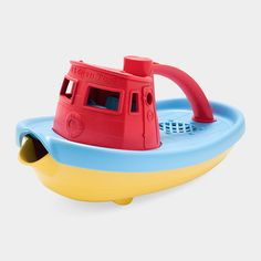 Green Toy Tugboat