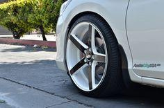 "20"" STR 607 white with black wheels rims on 2014 Honda Accord"