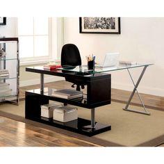 Marisa Contemporary High Gloss Convertible Executive Desk