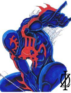 Spider-Man 2099 (Miguel O'Hara_Earth-TRN389) by ChrisOzFulton.deviantart.com