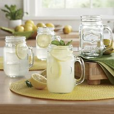 Canning Jar Mugs - perfect for summer