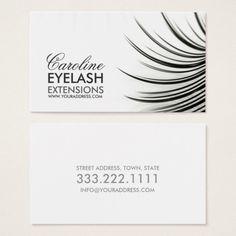 minimalistic eyelash extensions business card beauty business - Eyelash Business Cards