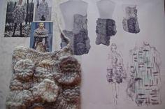 Fashion Sketchbook - fashion design, knitwear collection development; fashion portfolio // Miriam Briddon
