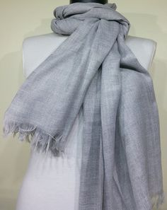 Gray Men's Scarf Gray Scarf Gray Soft Men's Scarf by PeraTime