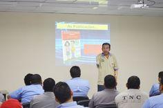 A palestra foi ministrada pelo ex-eletricista Flávio Peralta,que perdeu os dois braços em um acidente de trabalho