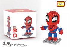 LNO Spider Man Nano Block Diamond Mini Building Block Marvel's The Avengers 023: $0.01 (0 Bids) End Date: Friday Mar-30-2018 20:25:35 PDT…